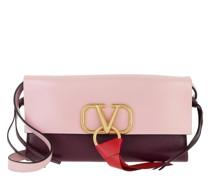 Umhängetasche V Ring Long Crossbody Bag Leather Rose Quartz/Rubin/Rouge Pur