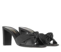Sandalen Bianca 75 Mule Sandals Leather Nero