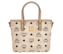 Anya Top Zip Shopper Mini Beige Umhängetasche gold