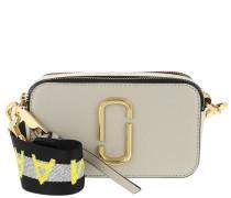 Umhängetasche Logo Strap Snapshot Small Camera Bag Leather Grey