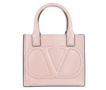 Umhängetasche V Logo Walk Mini Crossbody Bag Leather Rose Quarz