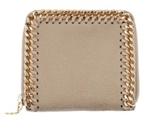 Portemonnaie Falabella Shaggy Small Zip Wallet Leather Butter Cream
