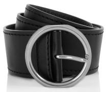 Kleinleder - Silver Buckle Leather Belt Black