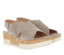 Tropez Plateau Sandal Crosta Funghi Sandalen grau
