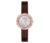 Armbanduhr - Ladies Wave Wristwatch Brown/Gold