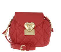 Mini Bucket Quilted Nappa PU Rosso Beuteltasche