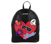 Backpack Borsa Nappa PU Nero Rucksack