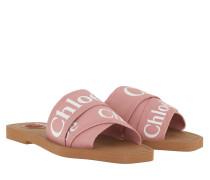 Sandalen Chloé Canvas Logo Sandals Delicate Pink