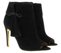 Pumps - Tinsel Peep-Toe Booties Black