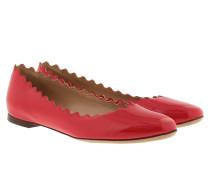 Ballerina Lauren Flat Patent Shiny Red Ballerinas