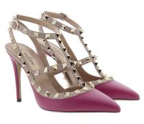 Rockstud Ankle Strap Camelia Pumps