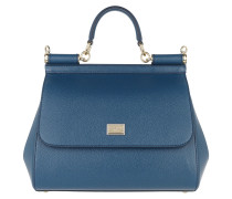 Sicily Saffiano Tote Medium Royal Blue