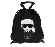 Rucksack Karl Ikonik Nylon Flat Backpack Black