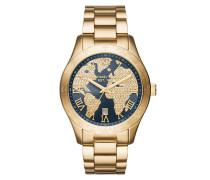 Armbanduhr - Layton Rhinestone Gold-Tone Grey Watch