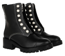 Boots Hayett Lug Sole Zipper Boot With Pearls Black