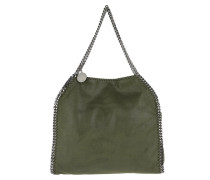 Falabella Shaggy Deer Small Fold-Over Tote Olive grün