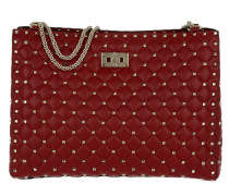 Rockstud Spike Shopping Shoulder Bag Rosso rot
