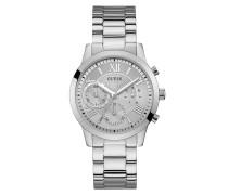 Uhr Women Quartz Watch Solar Silver