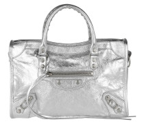 City Small Tote Lamb Skin Argent