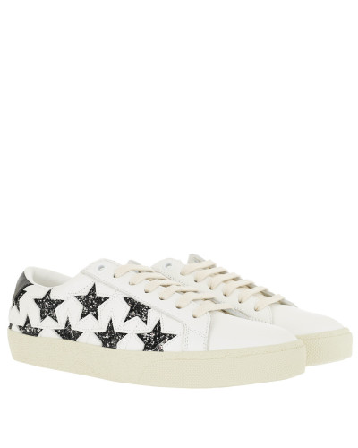 Sneakers Stars Motif Sneakers Leather White weiß