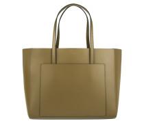 Kim Shopping Bag Pelle Calf Kaki Umhängetasche