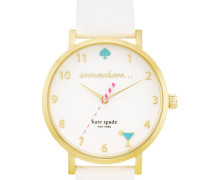 5 O`Clock Somewhere Metro Watch Gold/White Armbanduhr