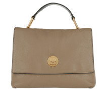 Liya Satchel Bag Taupe/Noir braun