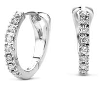 Ohrringe 14KT 0.11ct Diamond Creole Earring