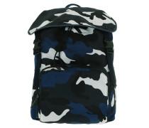 Backpack Nylon Camouflage Marine Indaco Rucksack blau