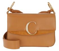 Umhängetasche Double Carry Small Shoulder Bag Leather Autumnal Brown cognac