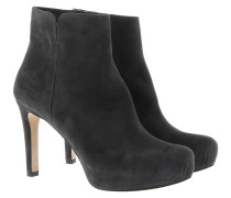 Boots & Booties - Platform Ankle Booties Suede Antracita