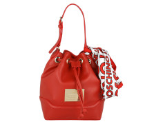 Calf PU Bucket Bag Rosso Beuteltasche