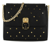 Pebbled Perf Skyler Small Black/Gold