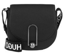 Uptown Large Saddle Bag Black Tasche