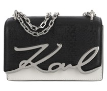 Umhängetasche Signature Small Shoulder Bag Black White