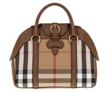 Tasche - House Check Derby Leather Milverton Tote Tan