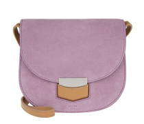 Small Trotteur Crossbody Suede Petal