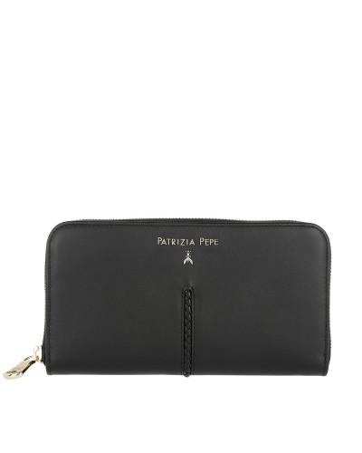 Zip-Around Wallet Nero Portemonnaie
