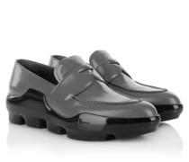 Loafers & Slippers - Slip On Spazzolato Mercurio + Nero