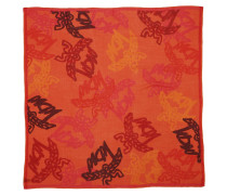 Accessoire Allover Logo Print Wool Scarf Tangerine Tango