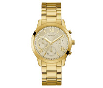 Uhr Women Quartz Watch Solar Gold