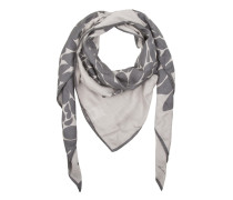Schal - Print Scarf Grey/Black