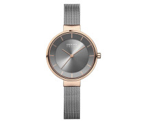 Uhr Watch Solar Women Steel Grey