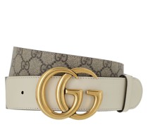 Gürtel GG Marmont Buckle Belt Ebony/White