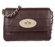Tasche - Mini Lily Deep Embossed Croc Print Oxblood