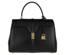 Satchel Bag Medium 16 Leather Black