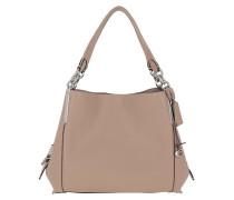 Hobo Bag Polished Pebble Leather Dalton Shoulder Taupe