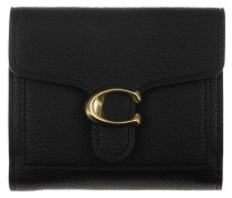 Portemonnaie Polished Pebble Tabby Small Wallet Black