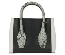 Tote Mini Bag Off White/Black/Sage Green