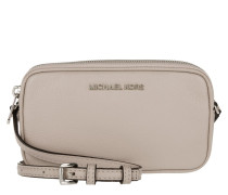 Tasche - Bedford MD Double Zip Crossbody Bag Leather Cement - in grau